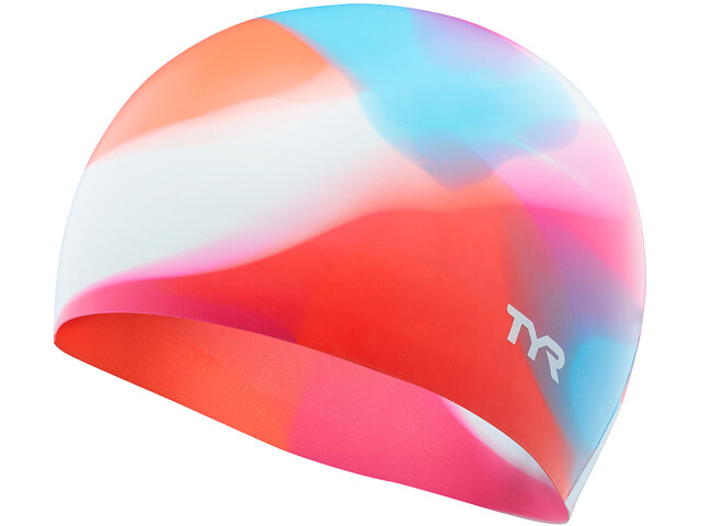 TYR Tie Dye Silicone Swim Cap Barn pink/blue